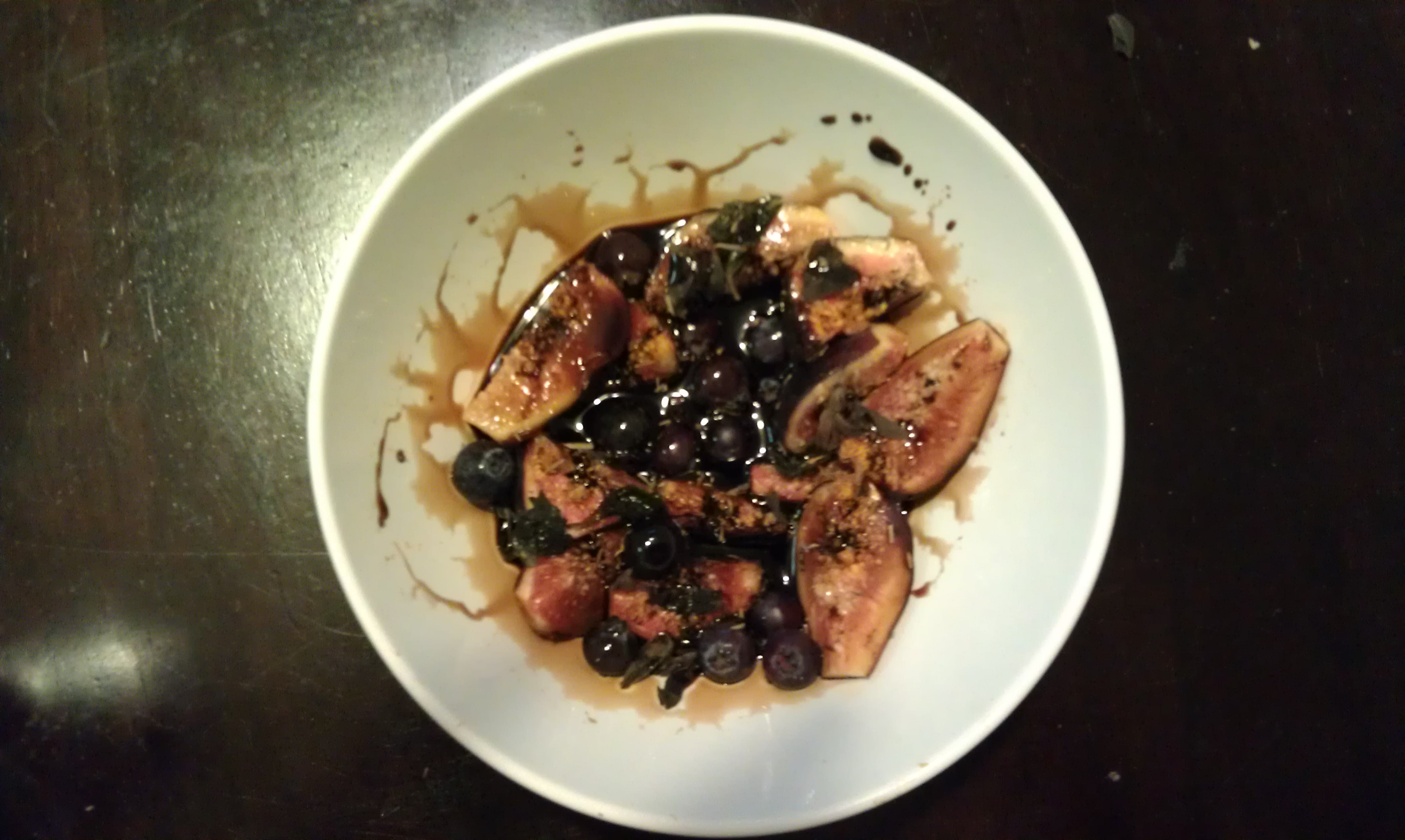 Balsamic Marinated Figs and Blueberries